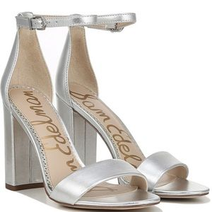 Sam Edelman Silver Strappy Heel